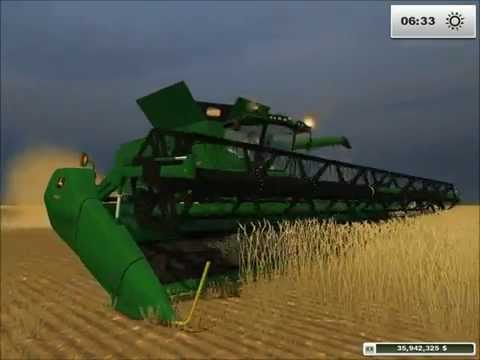 John Deere Combine S690 Tracked Version Big Boss Modding in Farming Simulator 2013