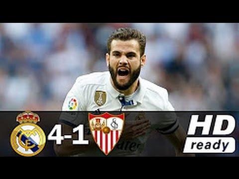 Real Madrid vs Sevilla 4-1 All Goals Full HD Highlights 14/05/2017