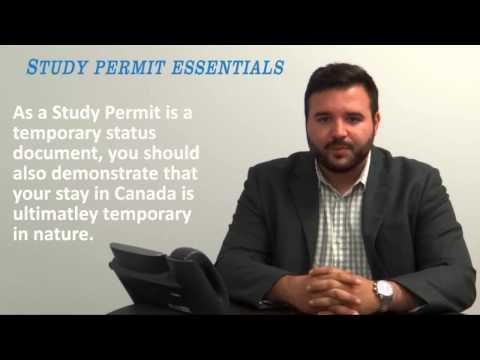 Canadian Study Permit Essentials Video