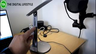 I have to admit I love LED lighting so was please to be able to review this new Oxyled LED desk lamp. The light is USB powered so it can be plugged into a PC or USB adapter to power the light. It has adjustable head so you can position the light low down so it illuminates papers on the desk or lift it up to light up the room. It's very elegantly designed light with a nice clean white light. The light costs £39.99 from Amazon and is an elegant addition to a desk.Here is the light in action