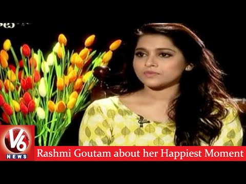 Rashmi-Goutam-about-her-Happiest-Moment-Guntur-Talkies-Madila-Maata-V6-News-09-03-2016