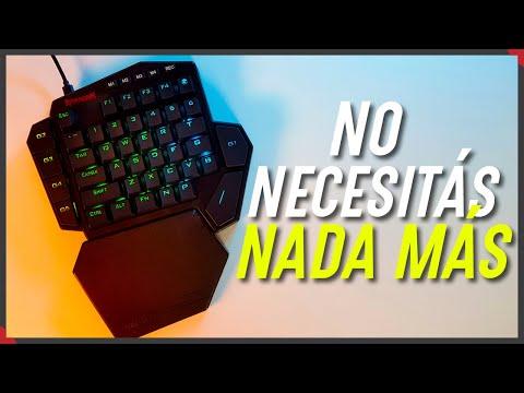No necesitás un teclado completo para jugar | Review Redragon Diti K585 RGB