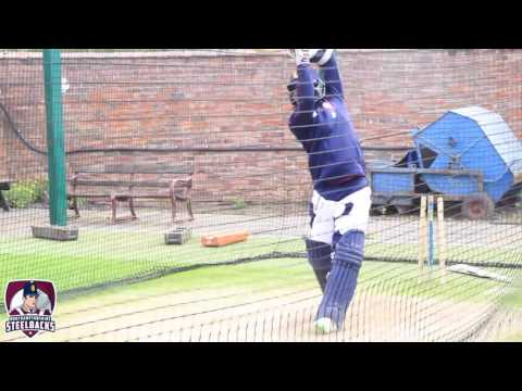 Kumar Sangakkara's first net session for Surrey