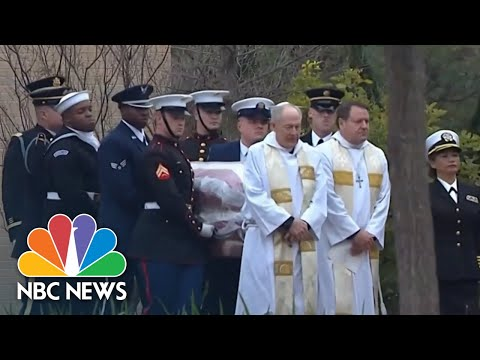 Final Look At Former President George H.W. Bush's Casket Before Private Burial | NBC News
