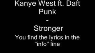 Kanye West ft. Daft Punk - stronger - Lyric