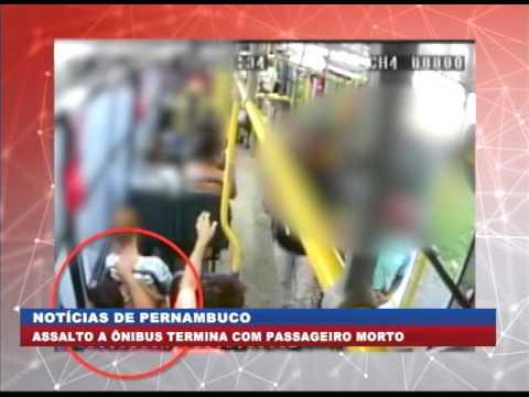 [BRASIL URGENTE PE] Assalto a ônibus termina com passageiro morto