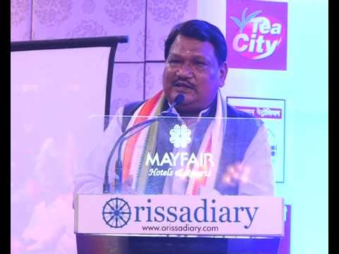 Union Minister Jual Oram speaking during Odisha Living Legend Award Ceremony