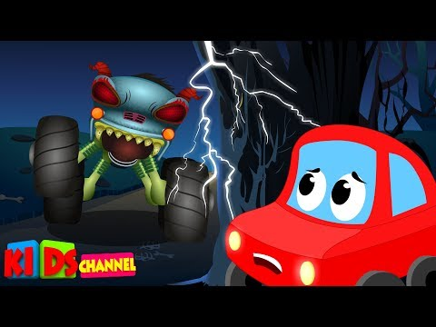 Video LRC & HHMT | beware of the monster truck | little red car | haunted house monster truck download in MP3, 3GP, MP4, WEBM, AVI, FLV January 2017