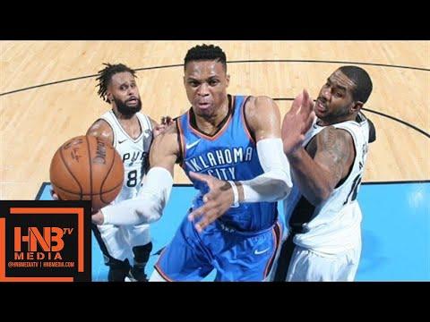 Oklahoma City Thunder vs San Antonio Spurs Full Game Highlights / March 10 / 2017-18 NBA Season (видео)