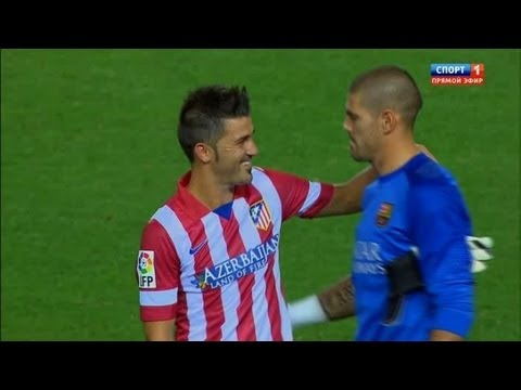 David Villa vs Barcelona (A) 13-14 720 HD - SuperCopa by Isco23i