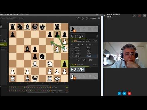 Skype Crazyhouse Chess - GM Yasser Seirawan vs JannLee (Series 4)