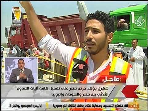 النقل تعلن نجاح تجربة تحميل على كوبري الخطاطبة العلوي على النيل