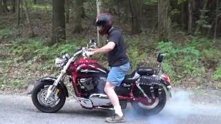 7. Kawasaki Mean Streak 1600 Burnout