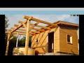Kerti faház építés, ház fából,