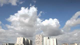 Clouds TimeLapse over Paris suburbs v2b 50fps