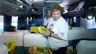VÍDEO: Campanha sobre uso do cinto de segurança em ônibus movimenta rodoviária de BH