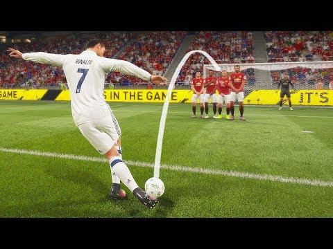 FIFA 18 КАК ЗАБИВАТЬ РАБОНОЙ СО ШТРАФНОГО | Rabona Free Kick Tutorial (видео)
