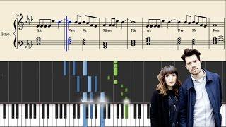 Oh Wonder - Technicolour Beat - EASY Piano Tutorial + Sheets