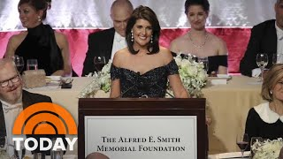 Nikki Haley Quips About President Donald Trump At Alfred E. Smith Dinner | TODAY