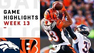 Broncos vs. Bengals Week 13 Highlights | NFL 2018