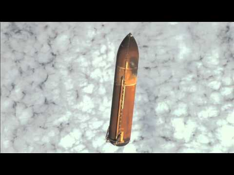 External - Hand-held camera footage of space shuttle Endeavour's external tank captured by the orbiter's STS-134 crew as the ET falls away from the orbiter at main engi...