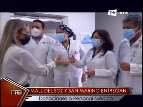 Mall del Sol y San Marino entrega donaciones a personal médico
