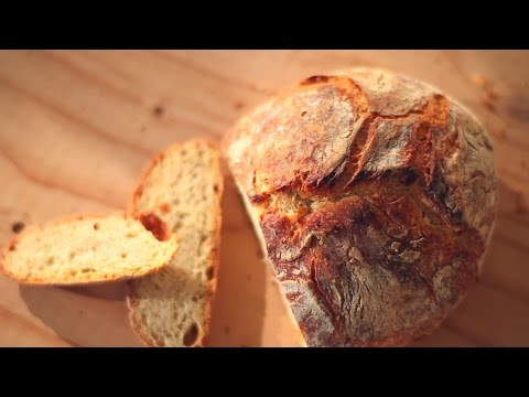 Brot selber backen: Brot ohne Kneten (No Knead Bread)