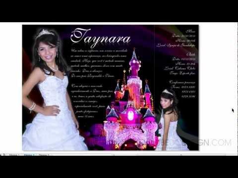 Criando um convite de 15 anos de princesa lilás com CorelDRAW e Photoshop