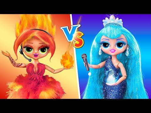 Hot vs Cold Challenge / 14 DIY LOL OMG Hacks and Crafts