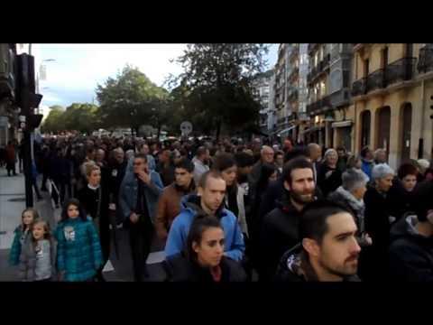 """18/10/27 """"Erraustegia geratu!"""" manifestazioa Donostian"""