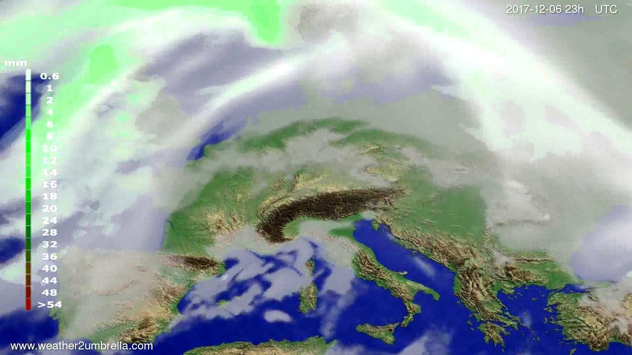 Precipitation forecast Europe 2017-12-03