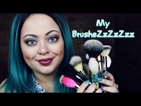 ASMR  NEW Hair - DonaLoveHair & My Makeup Brushes w/ mic brushing!!! (видео)