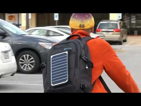 SunPack A backpack with removable solar charger