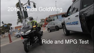 9. 2019 Honda GoldWing Tour Kawasaki Concours Fuel Economy Test Review Trip Gold Wing 2018 Motorcycle