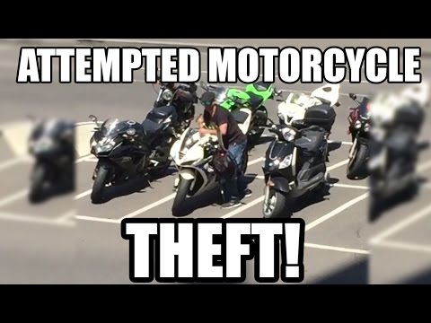 Attempted Motorcycle Theft Caught On Camera!