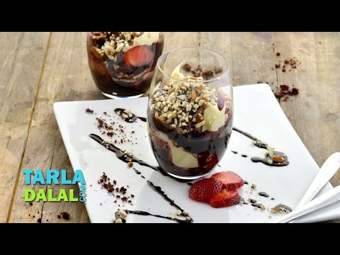 Brownie and Strawberry Surprise by Tarla Dalal