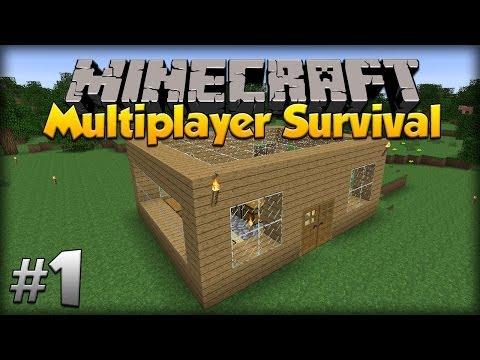 Minecraft Multiplayer Survival: w/moomoomage – Episode 1