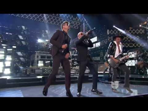 Bad Man (LIVE) - PItbull ft. Robin Thicke, Joe Perry, Travis Barker (Premios Lo Nuestro Awards)
