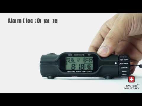 Swiss Military World Travel Alarm Clock Cum Organiser
