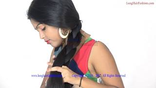 Easy Making Braid Love with Shiny Thick Knee Length Hair