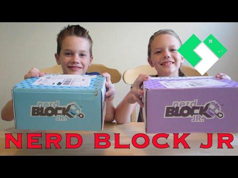 Nerd - The kids unbox their first Nerd Block Jr! Info on Nerd Block: http://nerdblock.com SUBSCRIBE for daily vlogs: http://j.mp/clintus Get a Clintus.tv shirt at h...