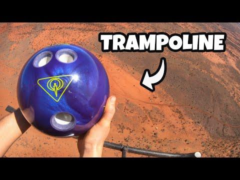 BOWLING BALL Vs. TRAMPOLINE from 1000 FEET!