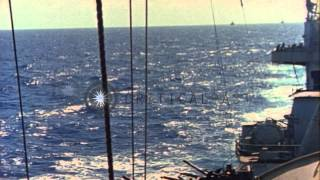 Chester (CA) United States  city images : U.S. Rear Admiral A.E. Smith aboard the Cruiser USS Chester (CA-27) during World ...HD Stock Footage