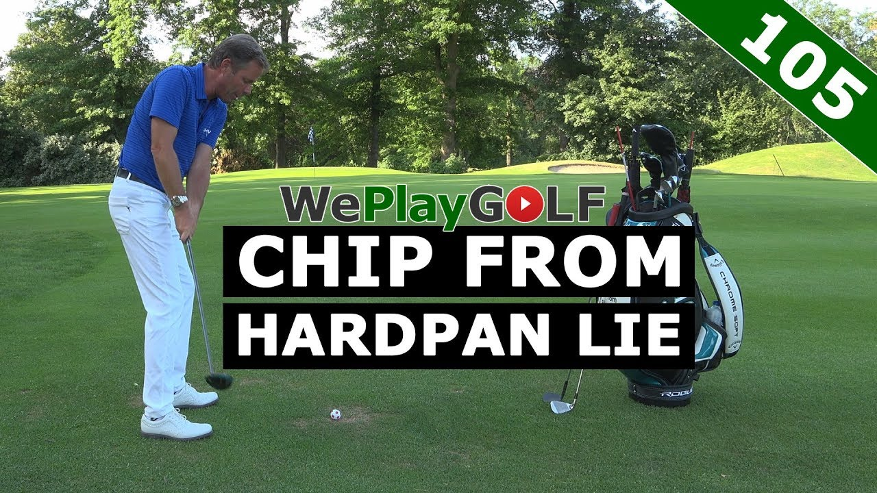 Chip from a hardpan lie - 3 differend ways