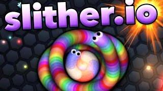 Gameplay  Let's Play FR [Français] sur Slither.io, un jeu où nous incarnons un serpent qui tue d'autres serpents pour manger ces...