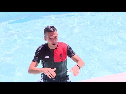 LFC Legends take ice bath challenge