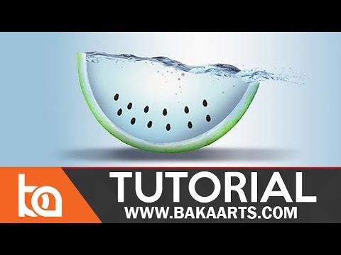 Water Fruit Photo Manipulation in Photoshop