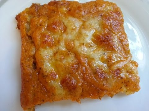 Thermifee - KARTOFFEL-PIZZA: Teig: 50 g Parmesan (10 Sekunden/Stufe 10 - nicht umfllen) 500 g Kartoffeln in Stcken 1/2 TL Salz 1/4 TL Pfeffer 50 g Sahne 1 Ei 2 TL Spei...