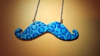 DIY LEOPARD MUSTACHES NECKLACE - YouTube