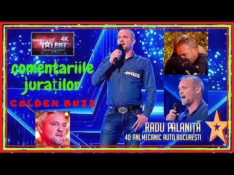 Românii au Talent! RADU PALANIŢĂ   COMENTARIILE JURAŢILOR   GOLDEN BUZZ de la Florin Călinescu!